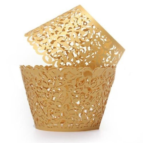 Gold Ivy Vine Cupcake Wrappers - 12units/pack