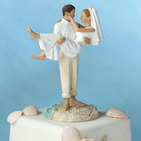 Beach Couple Wedding Cake Topper
