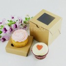 1 Kraft Brown Window Cupcake Box ($1.20/pc x 25 units)